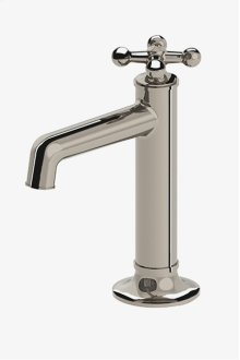 Dash One Hole High Profile Bar Faucet with Metal Cross Handle STYLE: DSKM40