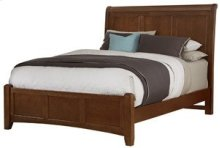 Queen Cherry Sleigh Bed