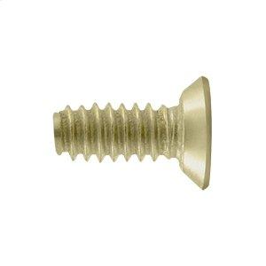 """Machine Screw, Steel, #10 x 1/2"""" - Polished Brass"""
