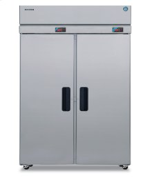 Dual Temp Cabinet, Two Section Upright, Full Stainless Door