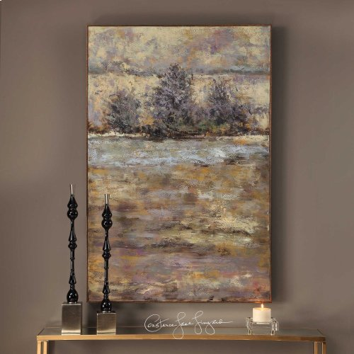 Lavender Trees Hand Painted Canvas