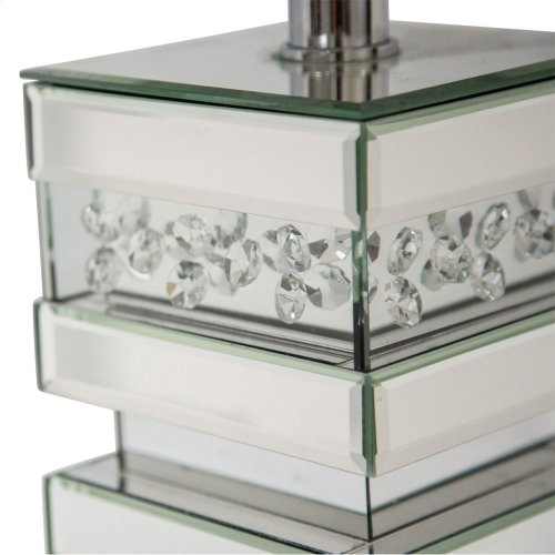 Silver Mirrored Lamp Base (2/pack)