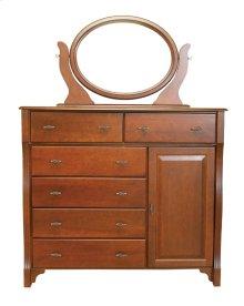 Wellington 6 Drawer 1 Door Mule Chest, One Adjustable Shelf