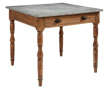 Zinc Taper Turned Gathering Table