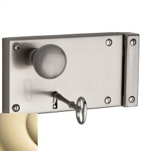 Lifetime Polished Brass 5639 Hollow Metal Door Rim Lock