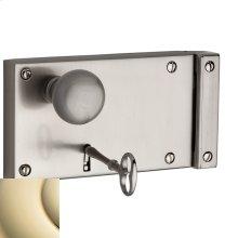 Lifetime Polished Brass 5639 Hollow Metal Door Rim Lock