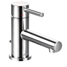 Align chrome one-handle bathroom faucet
