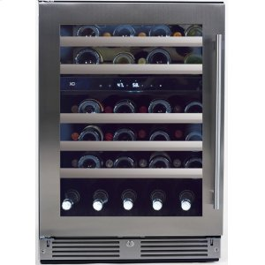 Xo Appliances24in Wine Cellar 2 Zone SS Glass LH