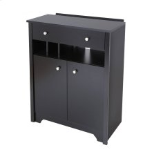 Charging station cabinet - Pure Black