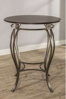 "Montello Bar Height Bistro Table - Ctn B - Contains 34"" Round Wood / Faux Leather Top Only- Wood and"