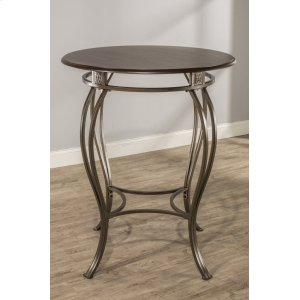 "Hillsdale FurnitureMontello Bar Height Bistro Table - Ctn B - Contains 34"" Round Wood / Faux Leather Top Only- Wood and"