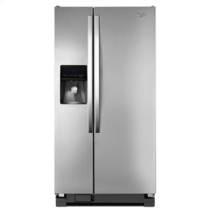 33-inch Wide Side-by-Side Refrigerator with Water Dispenser - 21 cu. ft. - MONOCHROMATIC STAINLESS STEEL