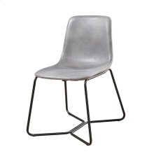 Emerald Home Emmett Dining Side Chair-gray With Black Metal Legs-d248-22-03