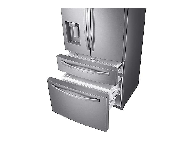 Samsung 24 cu ft 4-door french door counter depth refrigerator with flexzone drawer