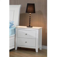 Selena Contemporary White Two-drawer Nightstand