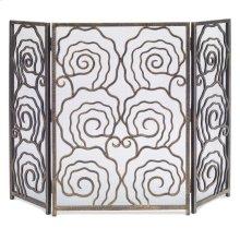 Spiral 3-Panel Fireplace Screen