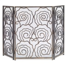 Spiral 3-Panel Fireplace Screen