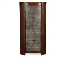 Faux Macassar & Anthracite Shagreen Oval Chest (Tall)