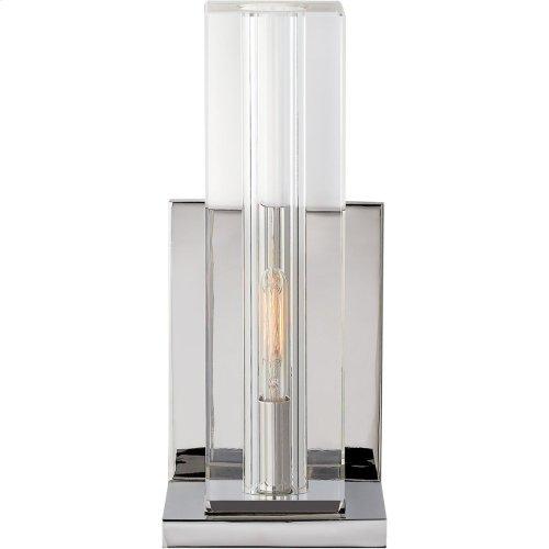 Visual Comfort S2944CG/PN Ian K. Fowler Ambar 1 Light 5 inch Polished Nickel Wall Sconce Wall Light, Tall