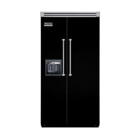 "Black 42"" Side-by-Side Refrigerator/Freezer with Dispenser - VISB (Integrated Installation)"