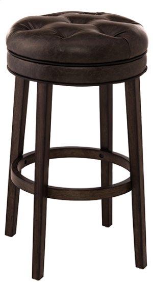 Krauss Backless Swivel Bar Stool - Charcoal Gray