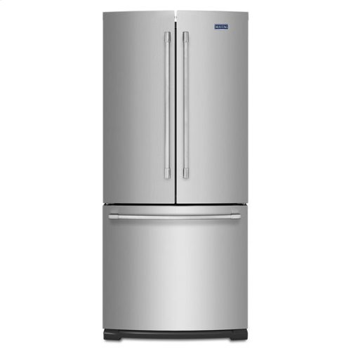 Maytag® 19.6 cu ft French Door Refrigerator with Strongbox Door Bins - Fingerprint Resistant Stainless Steel