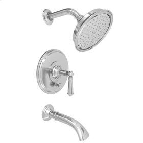 Gloss-Black Balanced Pressure Tub & Shower Trim Set