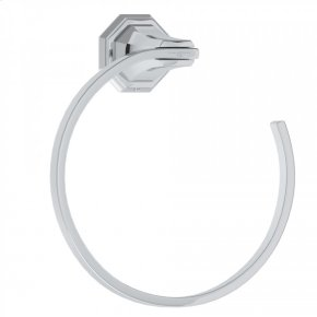 Polished Chrome Perrin & Rowe Deco Wall Mount Towel Ring