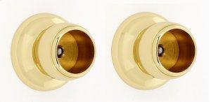 Royale Shower Rod Brackets A6646 - Polished Brass