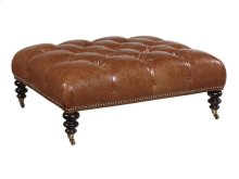 Victoria Leather Cocktail Ottoman