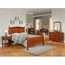 "Parker ""Cinnamon"" Full Bedroom - 360-045 Full Bed, 360-006 6-Drawer Dresser, 360-021 Mirror & 360-028 Nightstand"