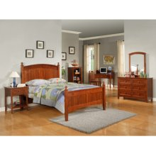 "Parker ""Cinnamon"" Full Bedroom - 360-045 Full Bed, 360-006 6-Drawer Dresser, 360-021 Mirror & 360-028 Nightstand"