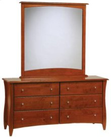 Spice Cherry Dresser & Mirror