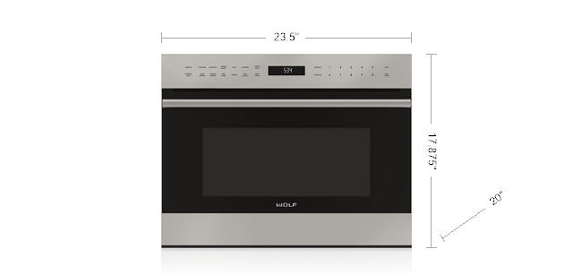 """Wolf24"""" E Series Transitional Drop-Down Door Microwave Oven"""