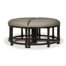 Regency Barley Twist 4 piece stool