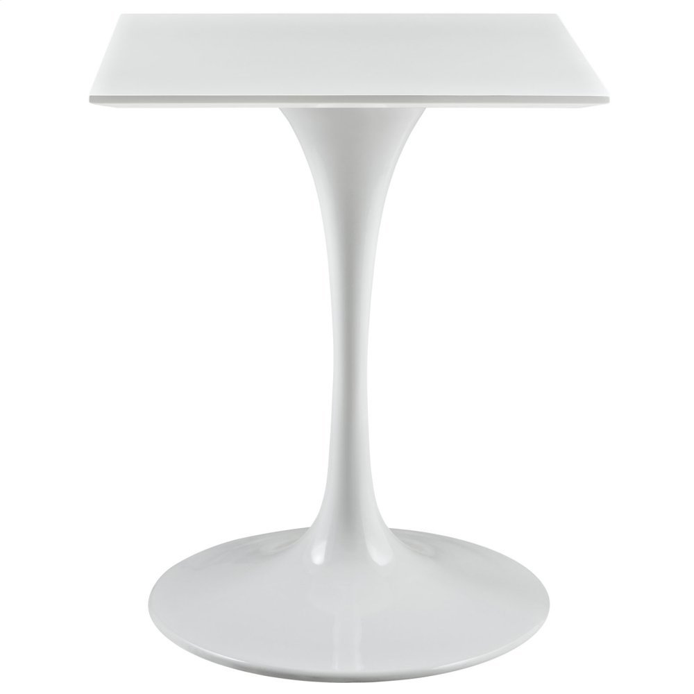 "Lippa 24"" Square Wood Top Dining Table in White"