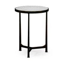 glomise & Bronze Iron Round Lamp Table