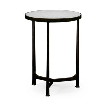 glomise & Bronze Iron Round Lamp Table