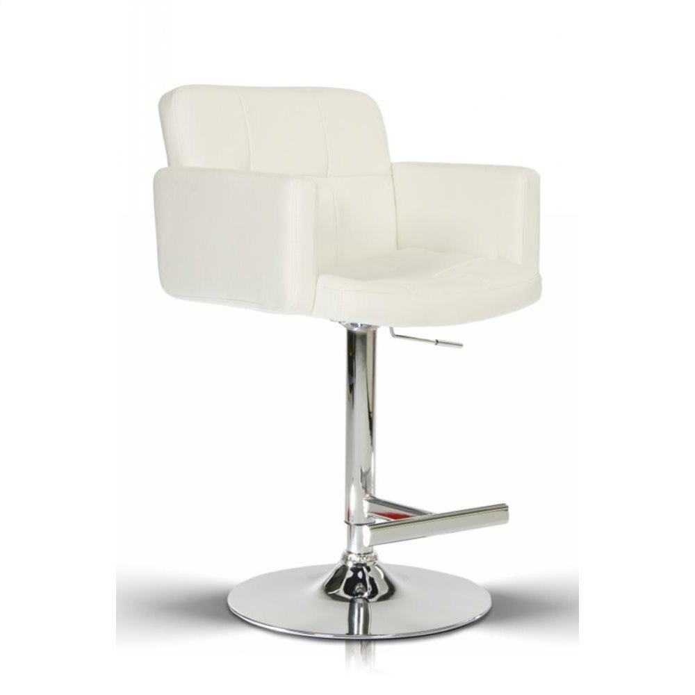 Modrest Lindy Contemporary White Leatherette Bar Stool