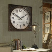 Warehouse Wall Clock with Grill