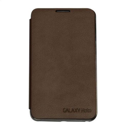 Galaxy Note Flip Cover Case, Brown