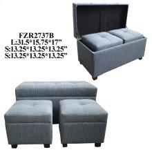 TRUNK SET OF 3, BLUE 31.5X15.75X17, 1SET 5.65'