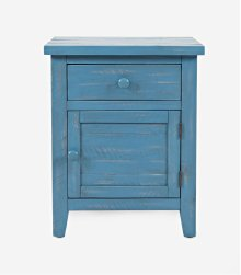 American Folklore Accent Table - Antique Blue