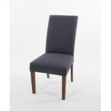 Straight top wood leg chair