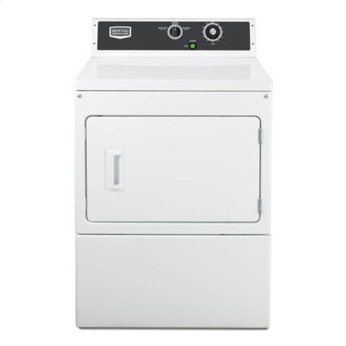 Maytag® Commercial Electric Super-Capacity Dryer, Mechanical Non-Coin - White