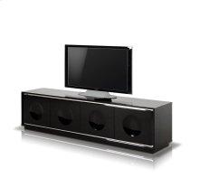 A&X Grand - Modern Black Crocodile Lacquer TV Stand