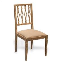 Side Chair, Antique Oak, Linen Flax