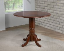DLU-ADW4242CB-CT  Round Drop Leaf Pub Table  Chestnut