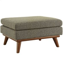 Engage Upholstered Fabric Ottoman in Oatmeal