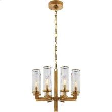 Visual Comfort KW5200AB-CRG Kelly Wearstler Liaison 8 Light 21 inch Antique-Burnished Brass Chandelier Ceiling Light in Antique Burnished Brass, Kelly Wearstler, Single-Tier, Crackle Glass
